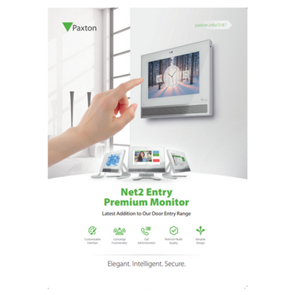 Picture of Net2 Entry Premium Monitor Customer Leaflet