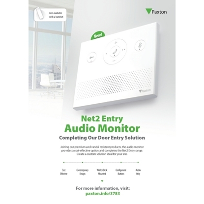 Picture of Net2 Entry Audio Monitor Customer Leaflet